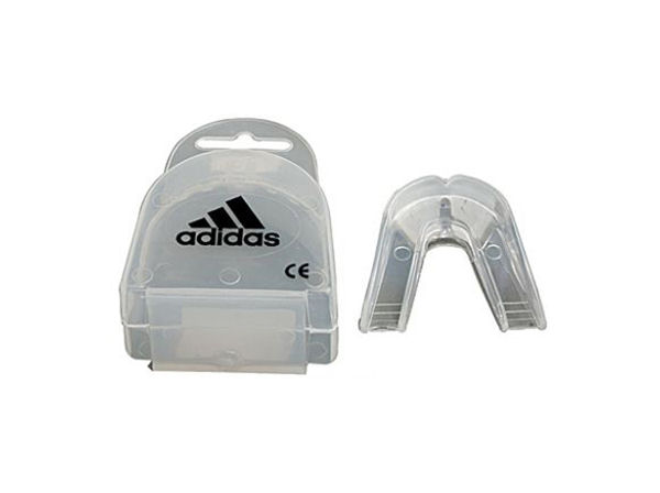 Adidas Boxing Double Gumshield Mouthguard - Clear With Case